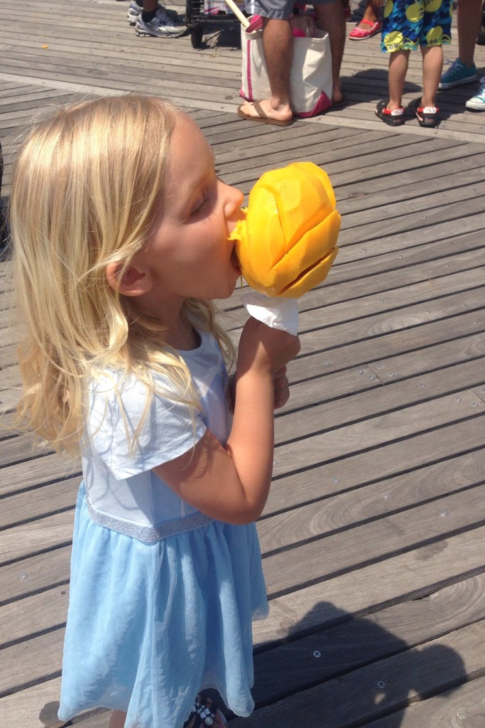 Charlotte with mango