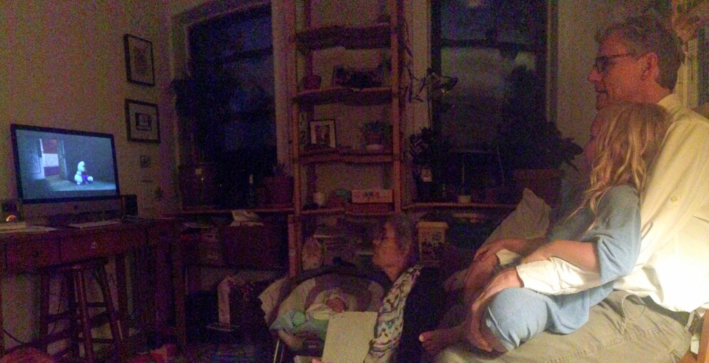 Watching Frozen with grandpa and Winky